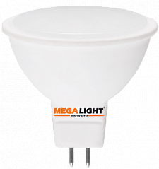 "LED ЛАМПА MR16 ""Spot"" 7W 630Lm 230V 6500K GU5.3 MEGALIGHT (10/100)"